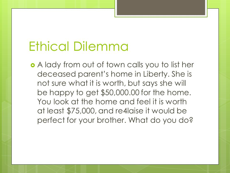 Ethical Dilemma