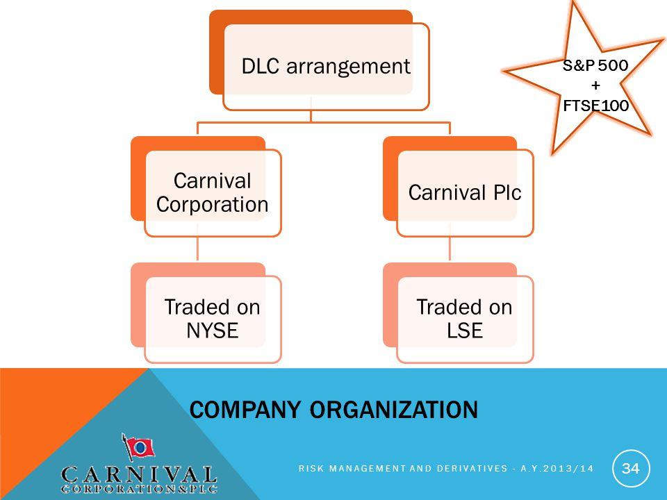Company organization DLC arrangement Carnival Corporation
