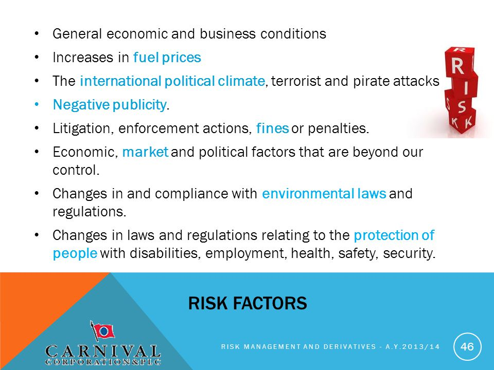 Risk factors General economic and business conditions