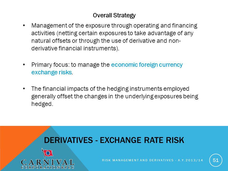 DERIVATIVES - exchange rate risk