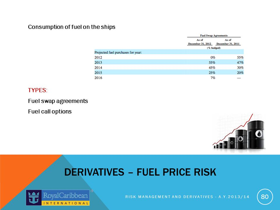 DERIVATIVES – FUEL PRICE RISK