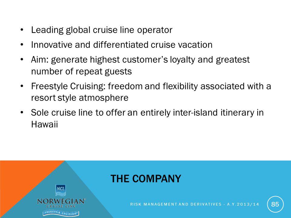 the company Leading global cruise line operator