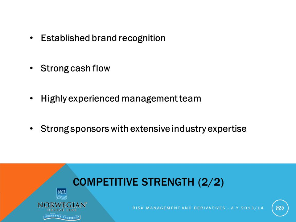 Competitive strength (2/2)