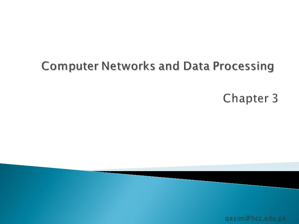 Computer Networks and Data Processing