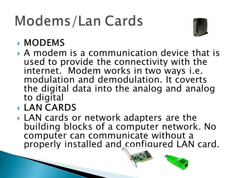 Modems/Lan Cards MODEMS