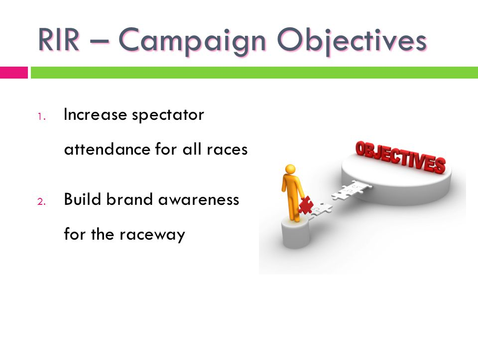 RIR – Campaign Objectives