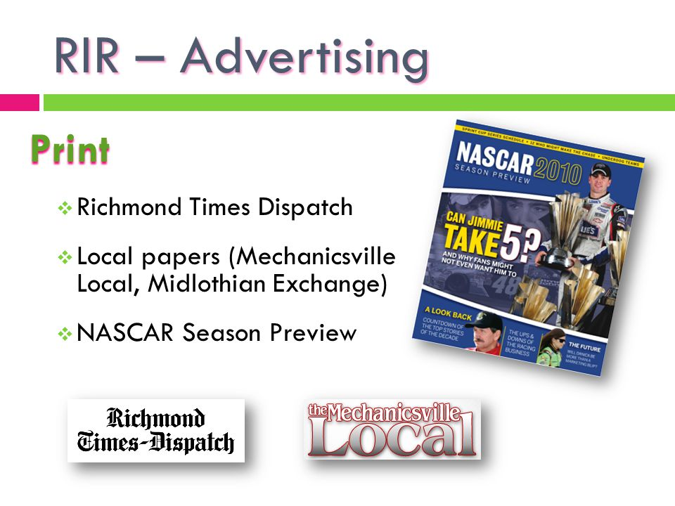 RIR – Advertising Print Richmond Times Dispatch