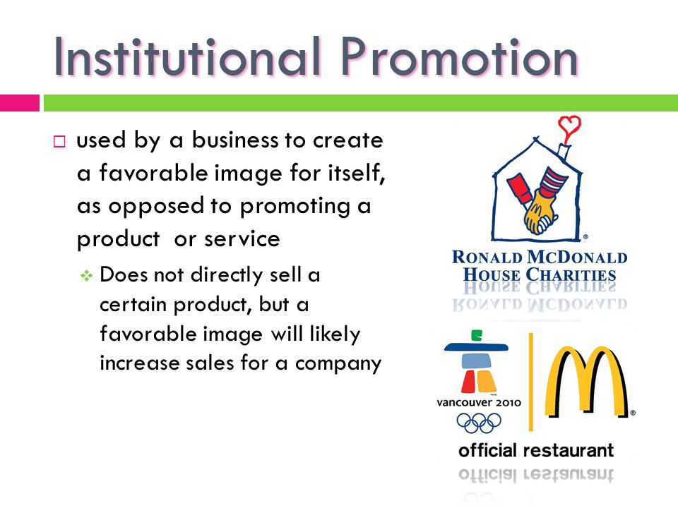 Institutional Promotion