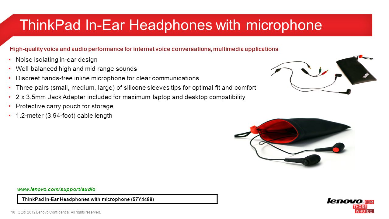 ThinkPad In-Ear Headphones with microphone