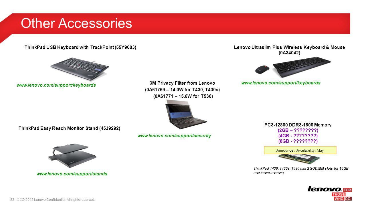 Other Accessories ThinkPad USB Keyboard with TrackPoint (55Y9003)