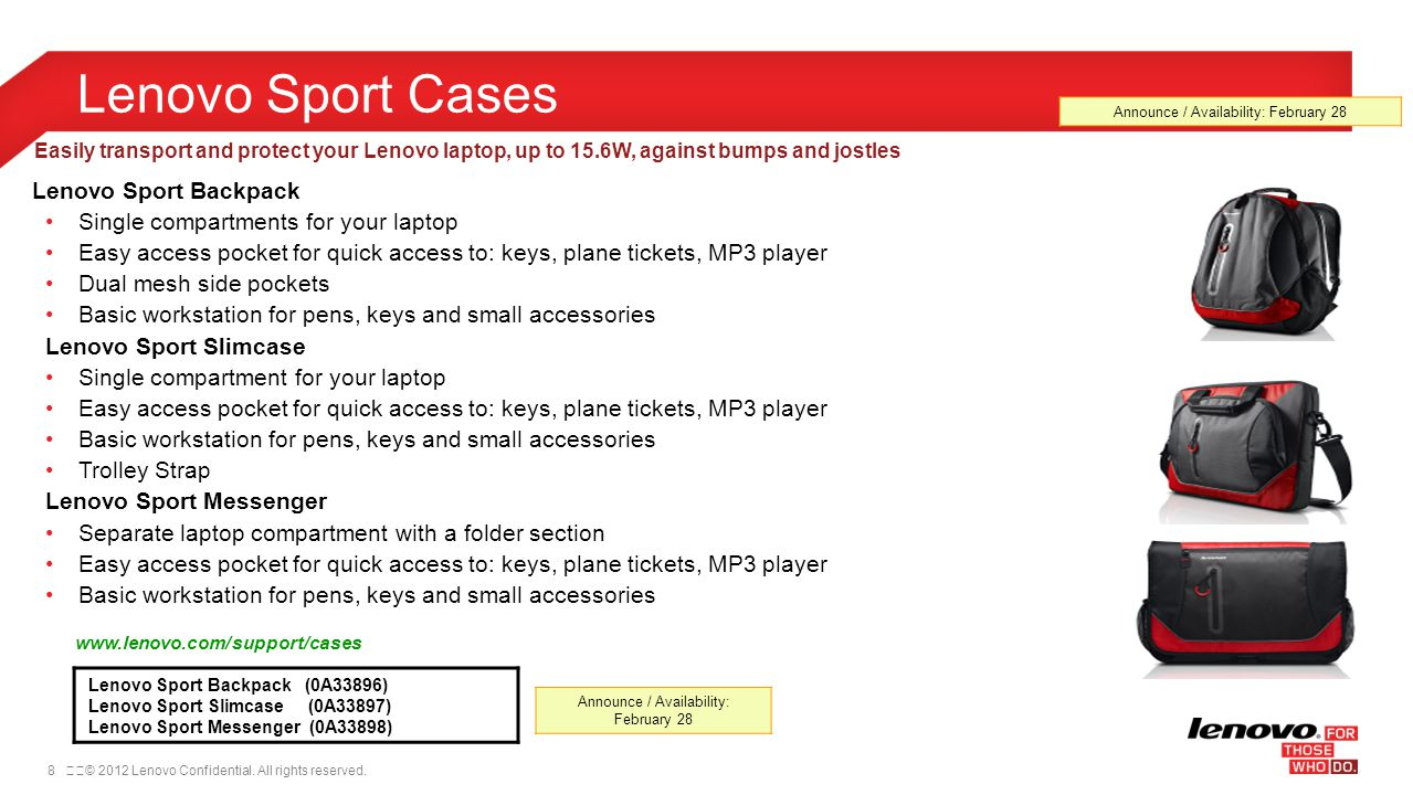 Lenovo Sport Cases Lenovo Sport Backpack