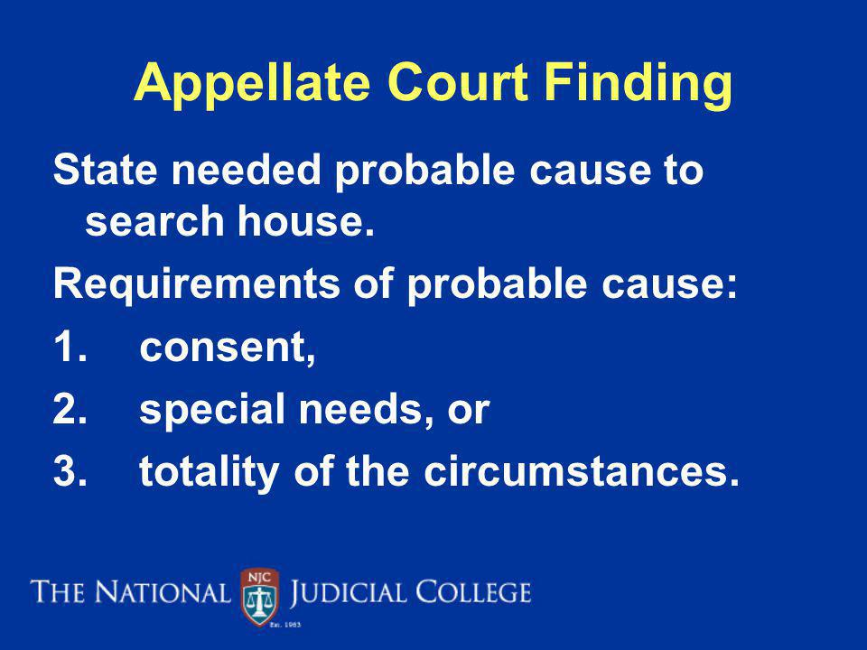 Appellate Court Finding