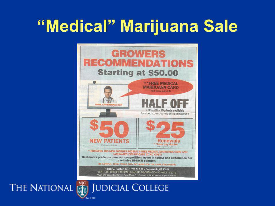 Medical Marijuana Sale