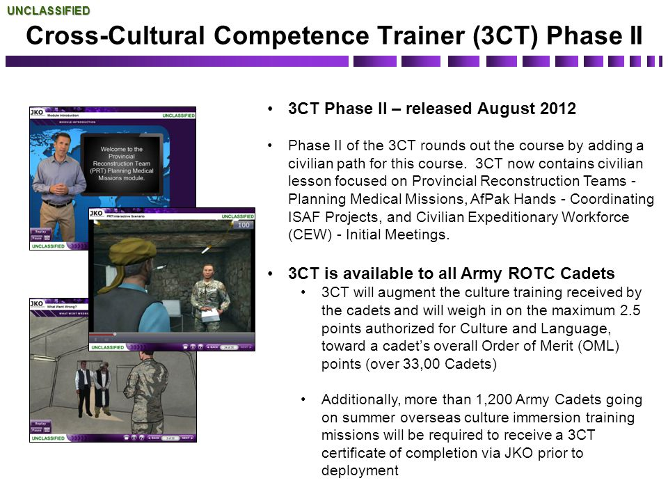 Cross-Cultural Competence Trainer (3CT) Phase II