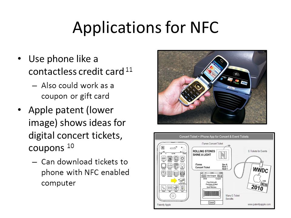 Applications for NFC Use phone like a contactless credit card 11