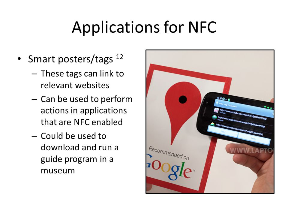 Applications for NFC Smart posters/tags 12