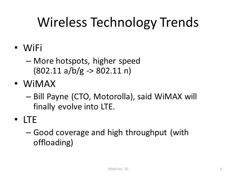 Wireless Technology Trends