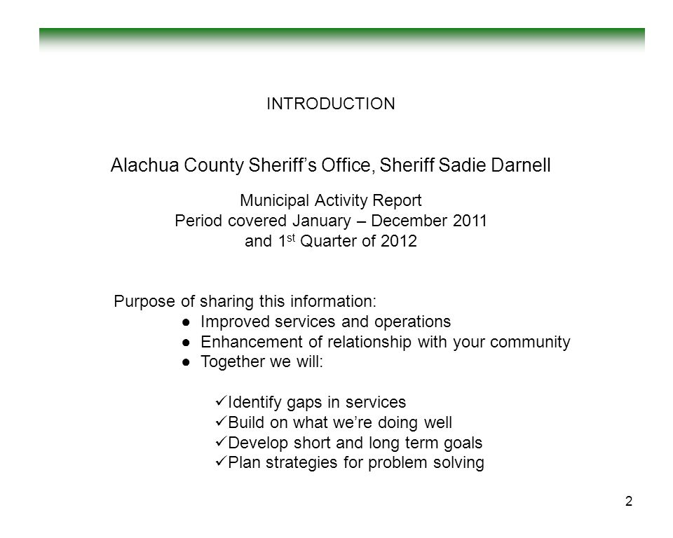 Alachua County Sheriff's Office, Sheriff Sadie Darnell
