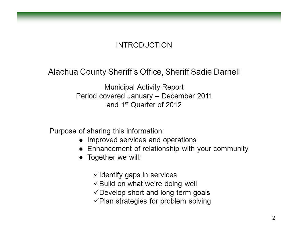 Alachua County Sheriff's Office, Sheriff Sadie Darnell