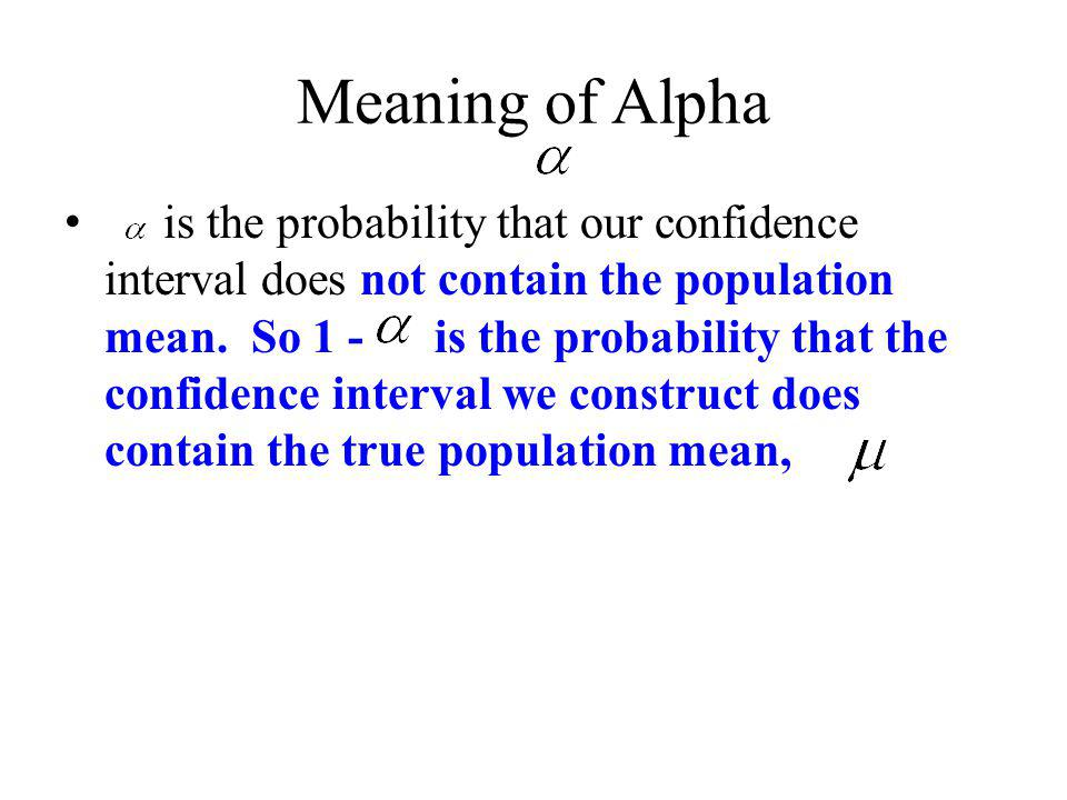Meaning of Alpha