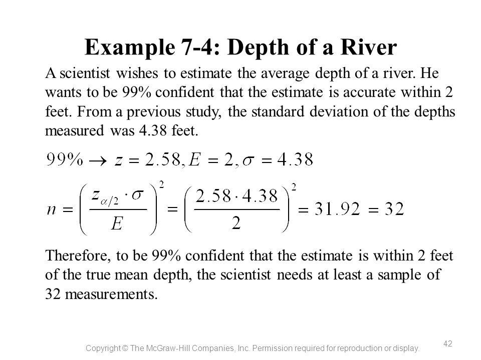 Example 7-4: Depth of a River
