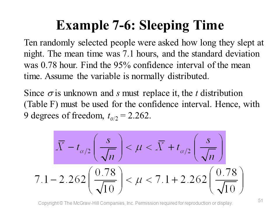 Example 7-6: Sleeping Time