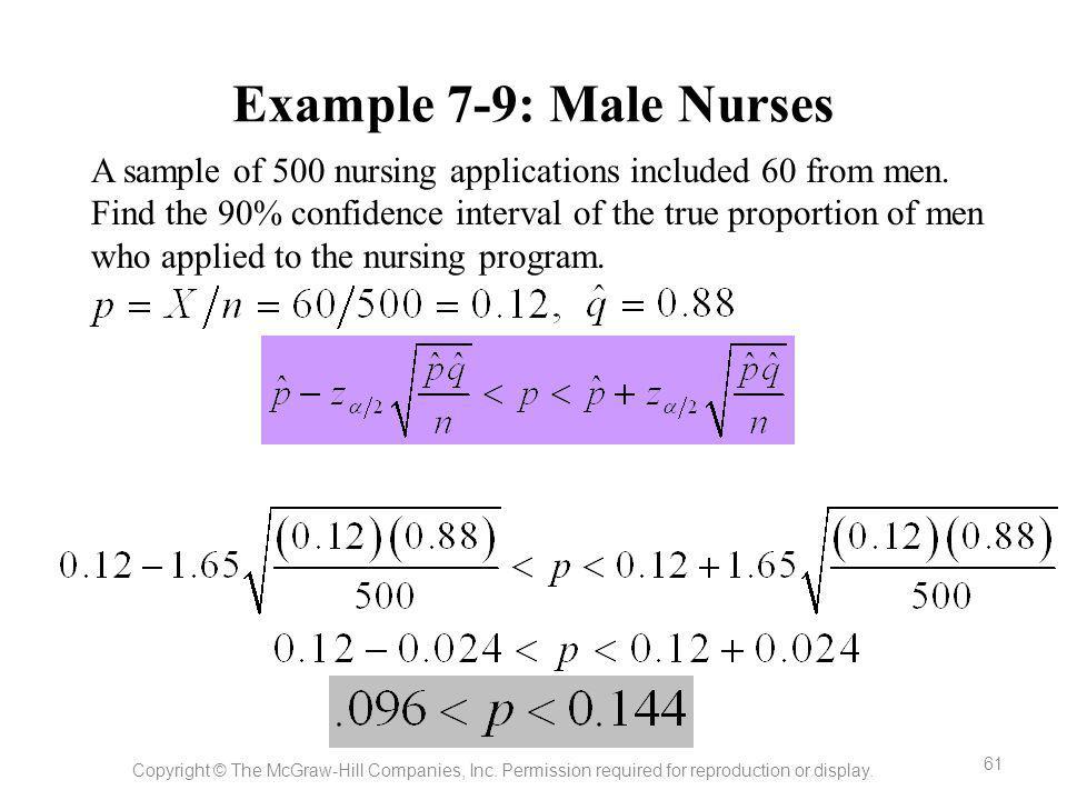 Example 7-9: Male Nurses