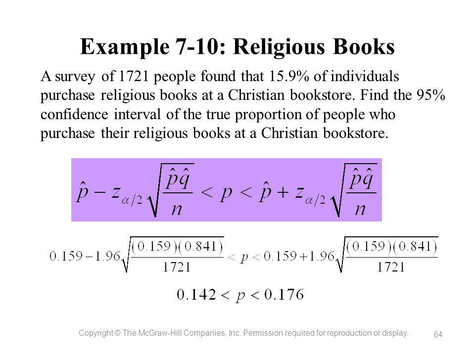 Example 7-10: Religious Books