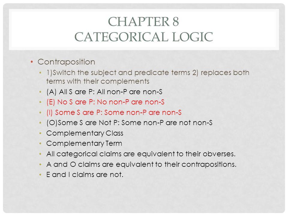 Chapter 8 Categorical Logic