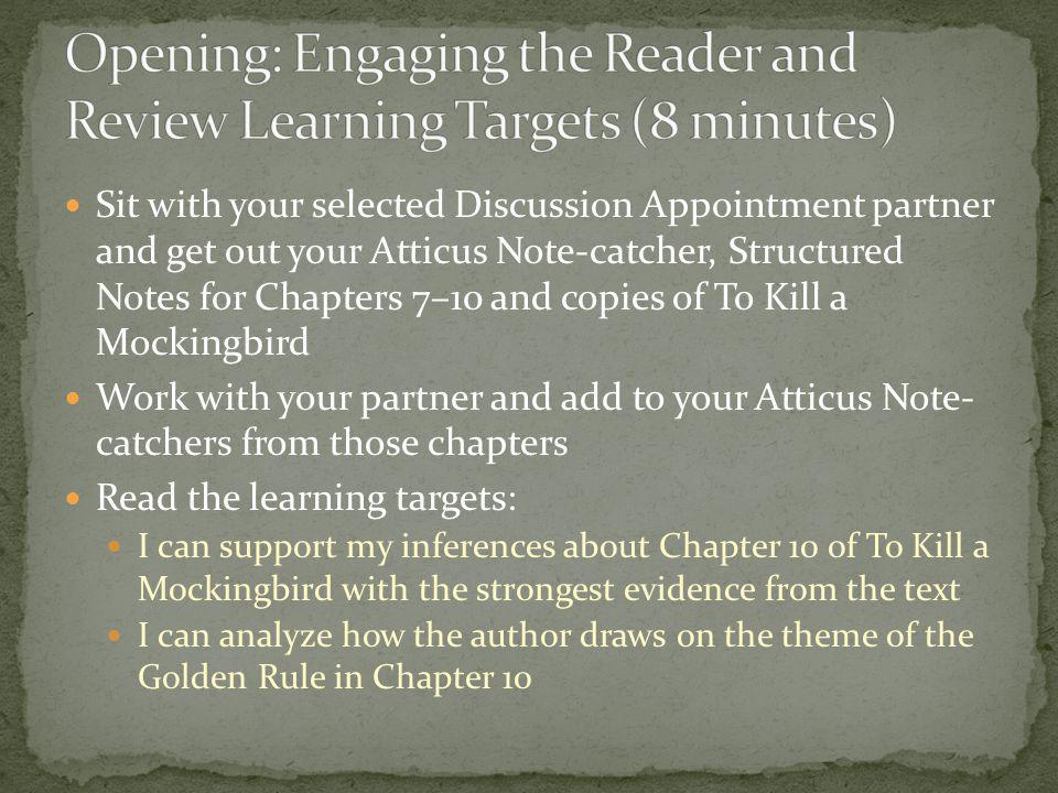 Opening: Engaging the Reader and Review Learning Targets (8 minutes)