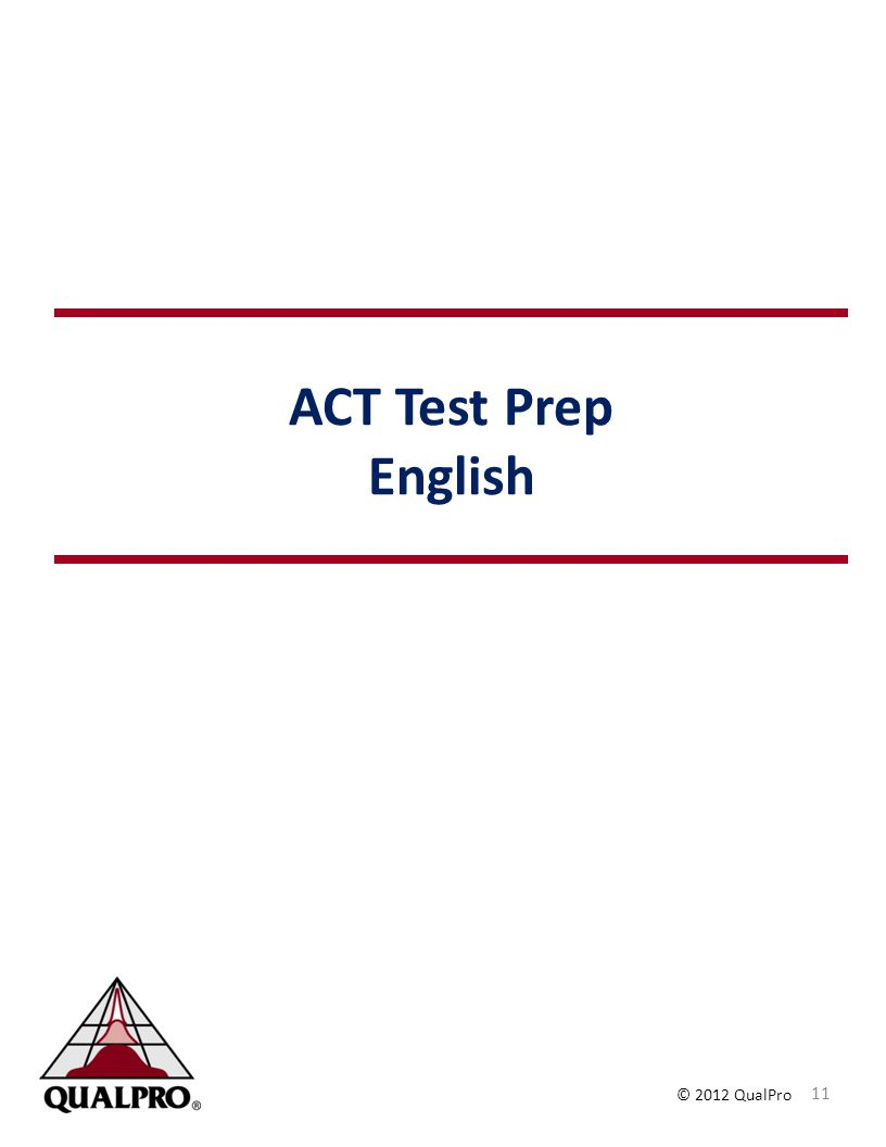 ACT Test Prep English