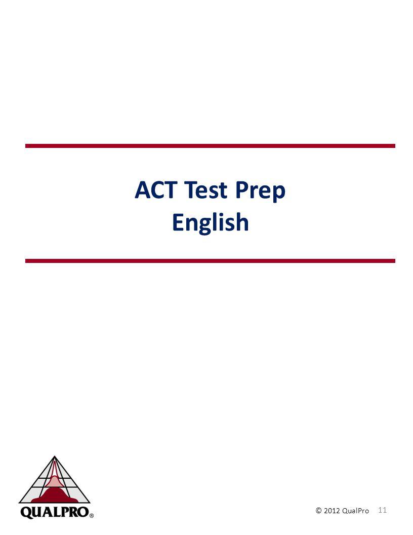 ACT Test Prep English