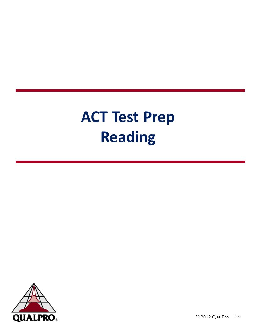 ACT Test Prep Reading