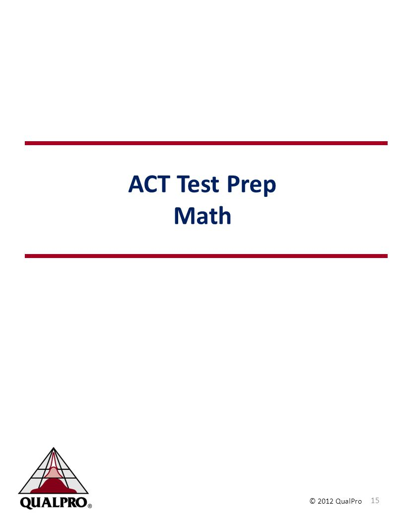 ACT Test Prep Math