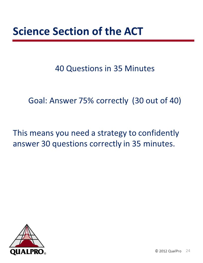 Science Section of the ACT