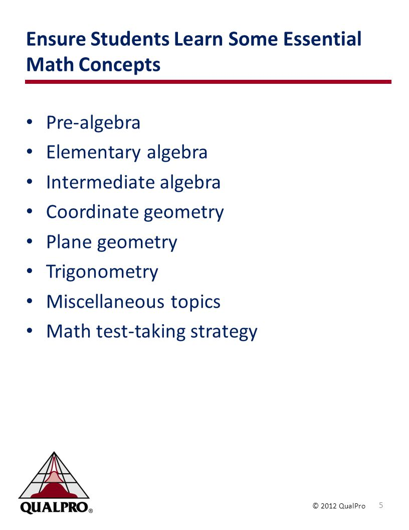 Ensure Students Learn Some Essential Math Concepts