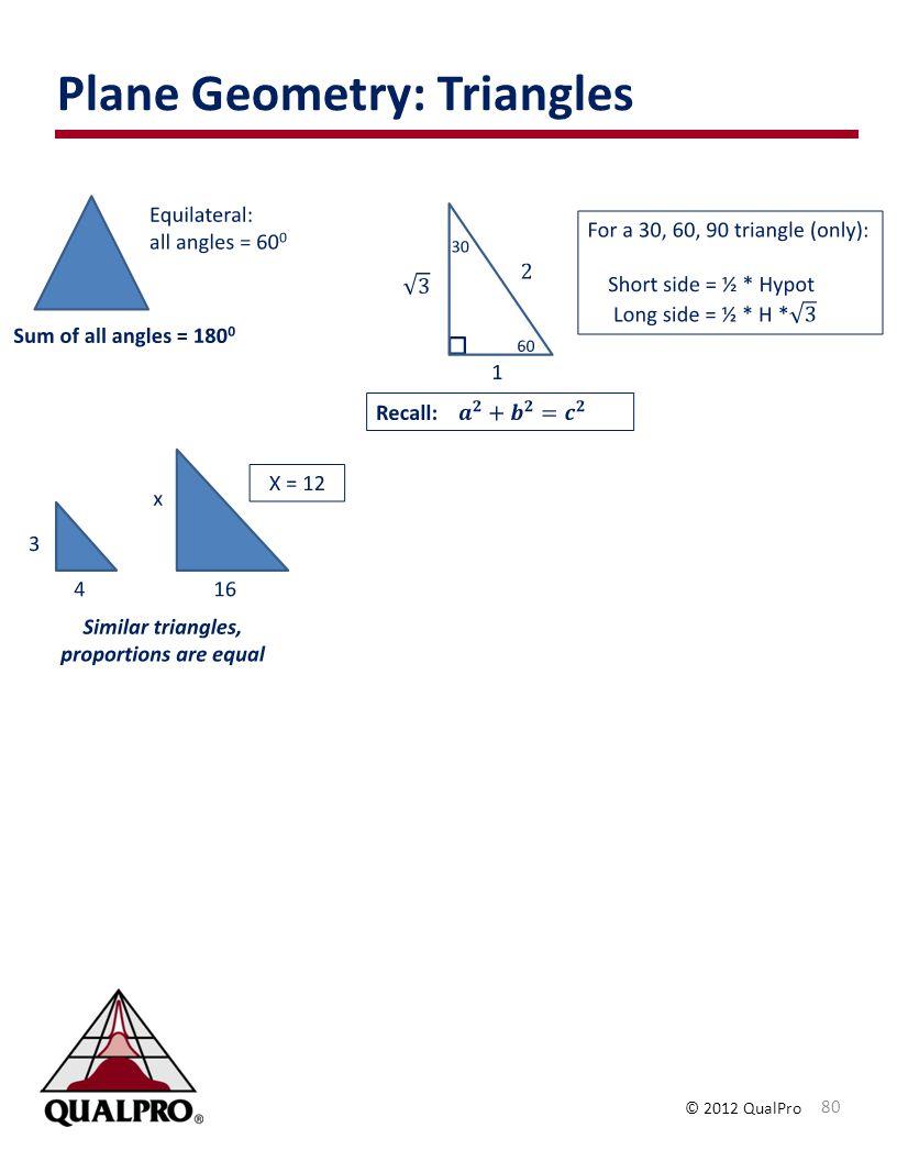 Plane Geometry: Triangles
