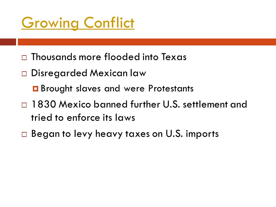 Growing Conflict Thousands more flooded into Texas