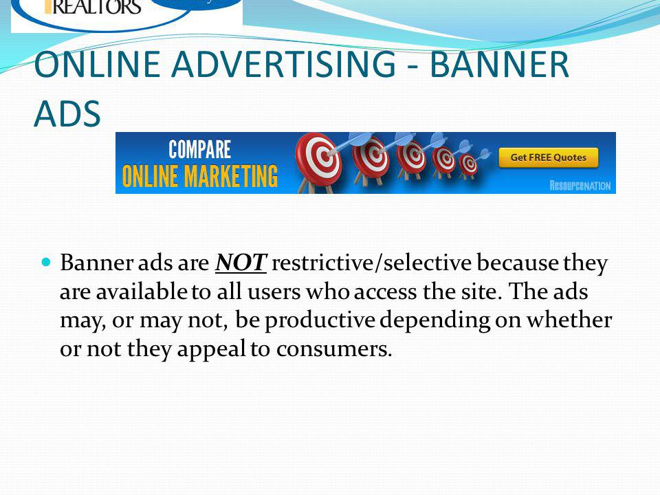 ONLINE ADVERTISING - BANNER ADS