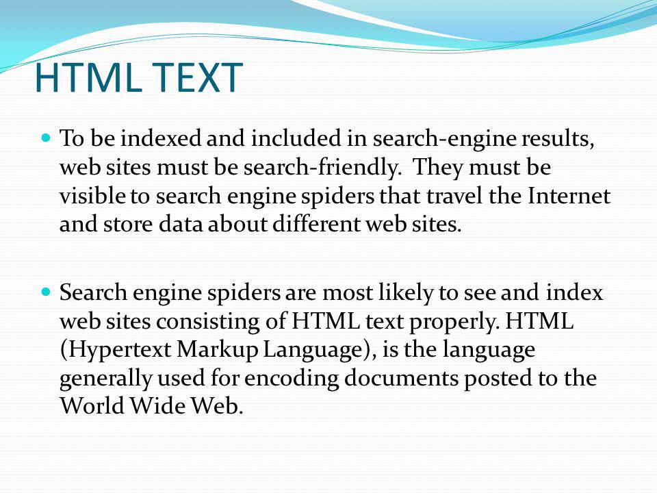 HTML TEXT