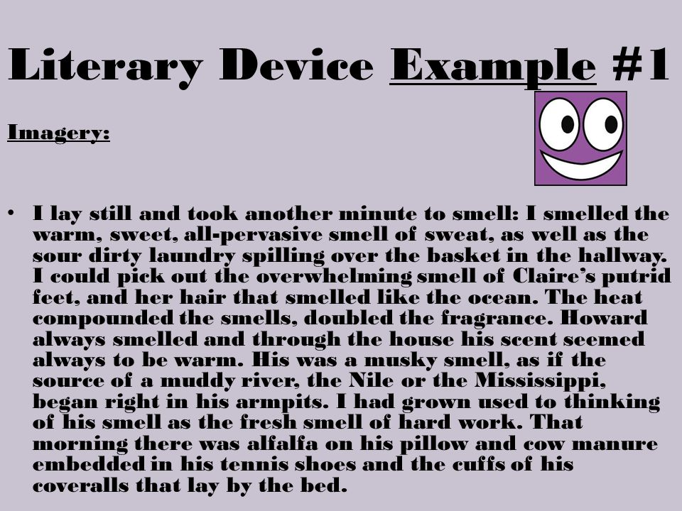 Literary Device Example #1