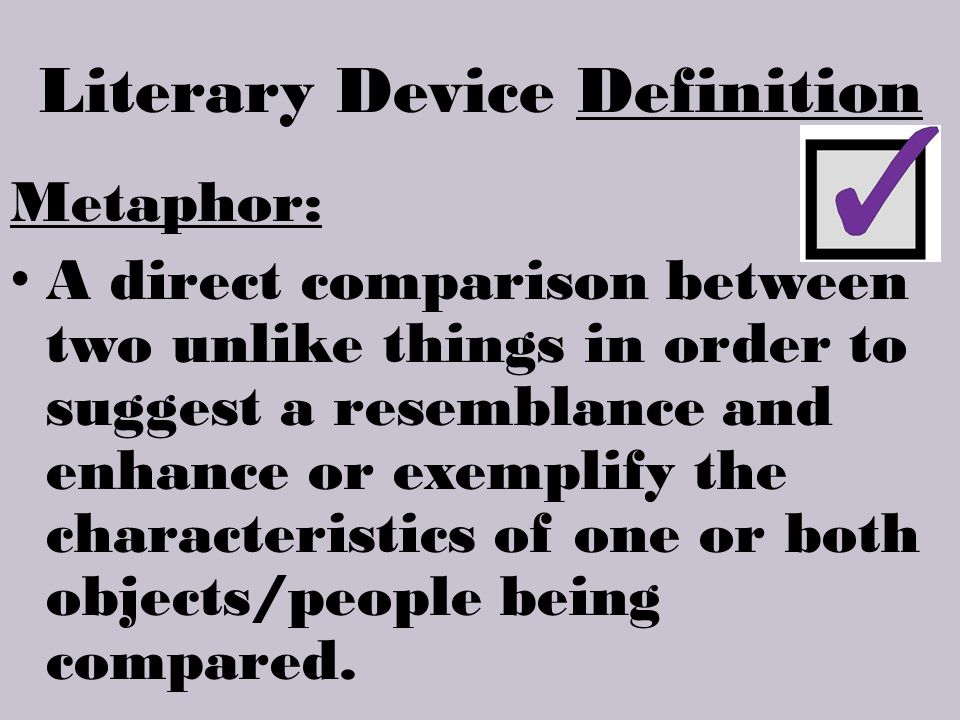 Literary Device Definition