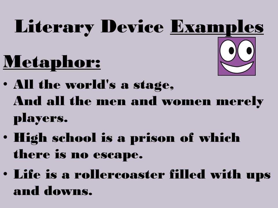 Literary Device Examples