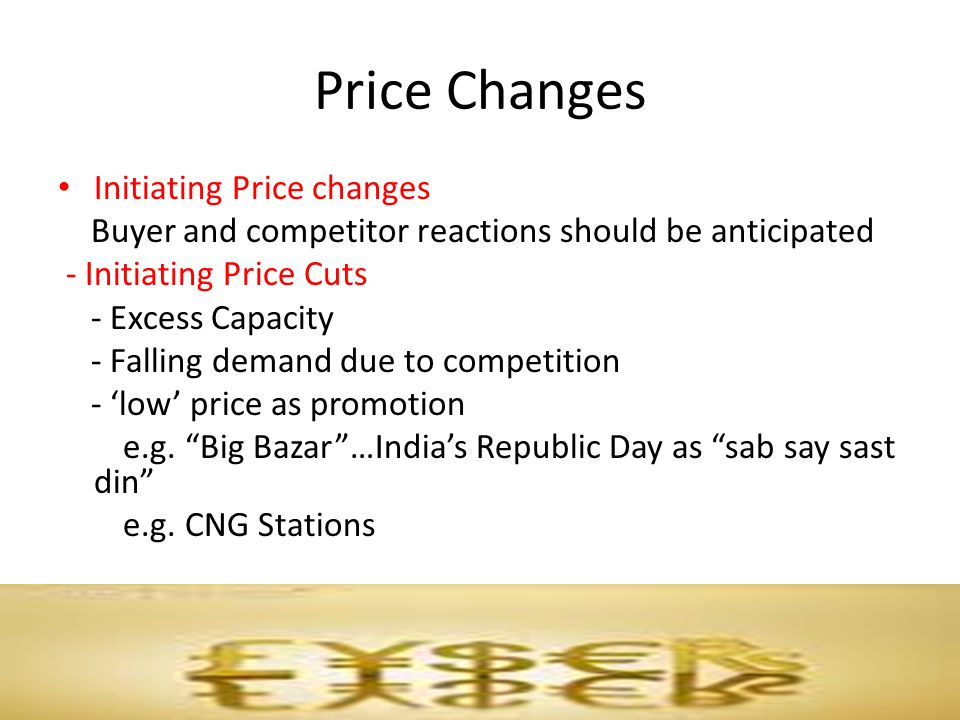 Price Changes Initiating Price changes