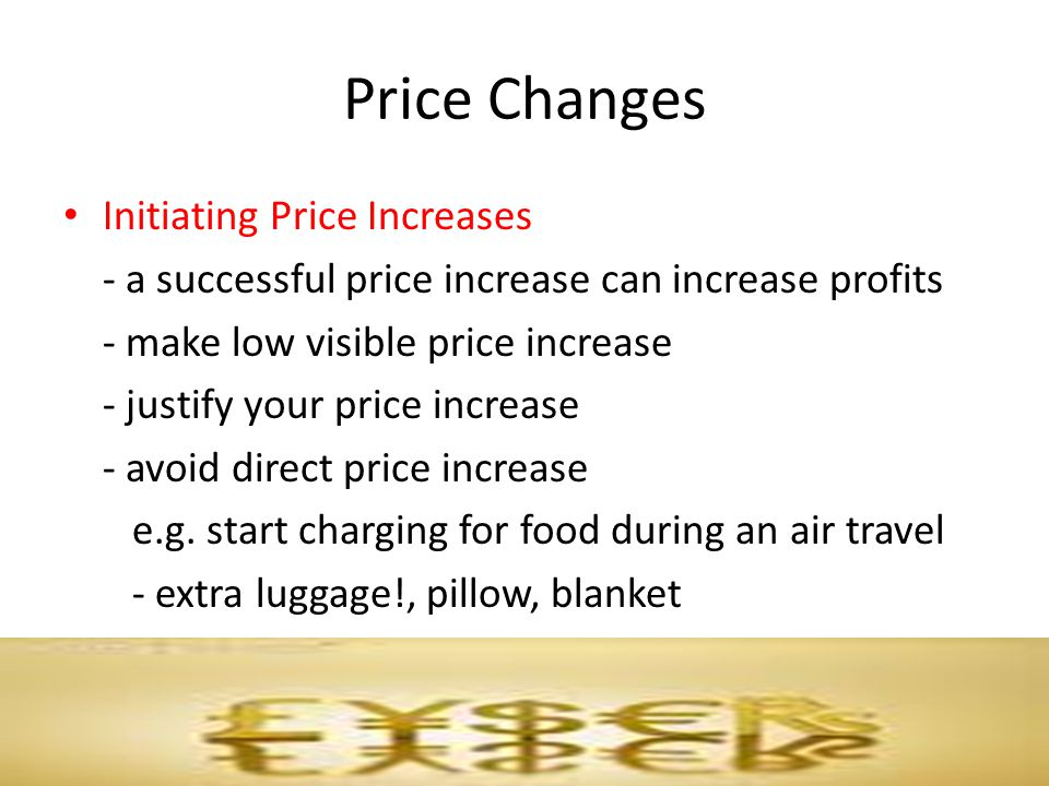 Price Changes Initiating Price Increases