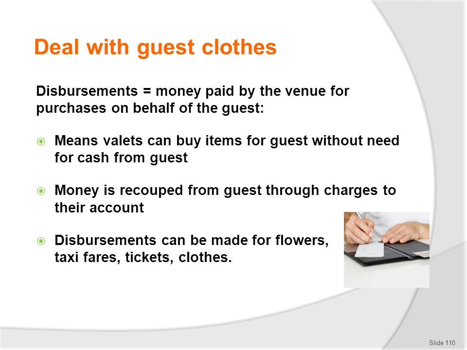 Deal with guest clothes