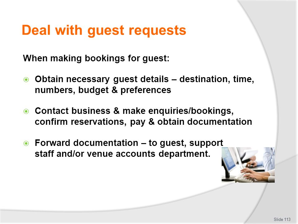 Deal with guest requests