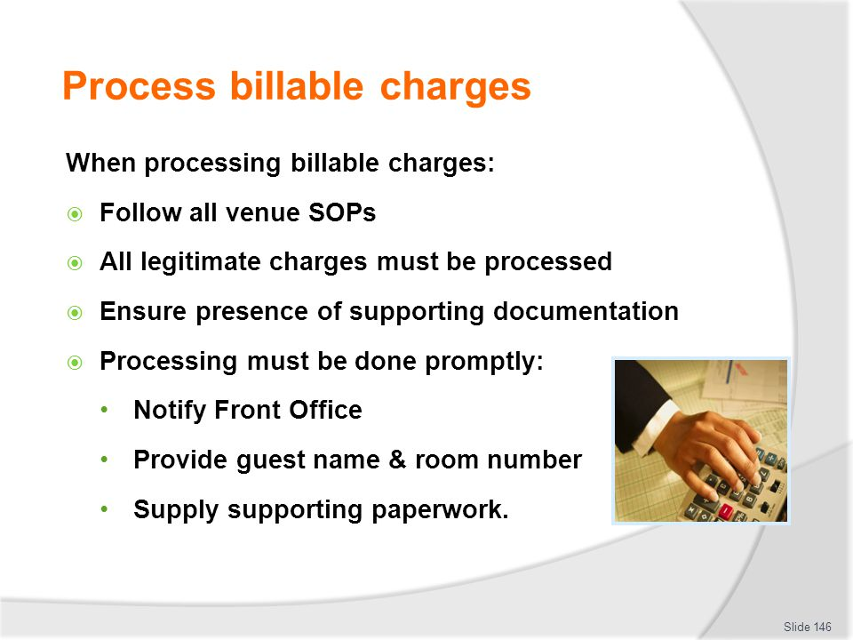 Process billable charges