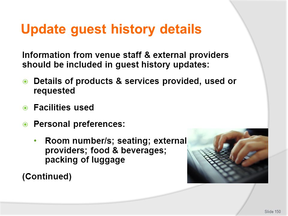 Update guest history details