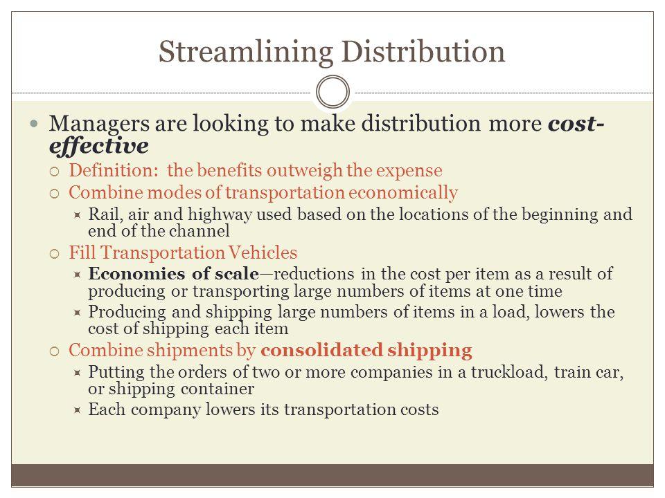 Streamlining Distribution